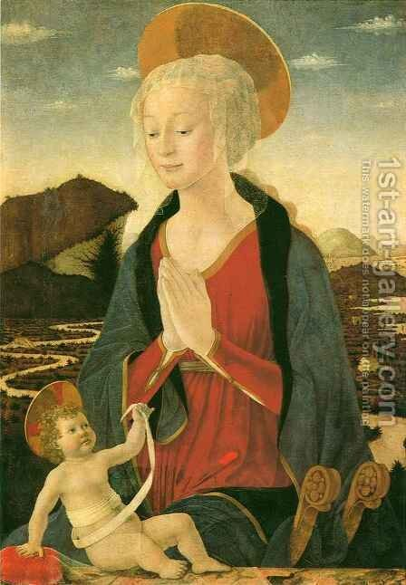 Madonna and Child by Alessio Baldovinetti - Reproduction Oil Painting