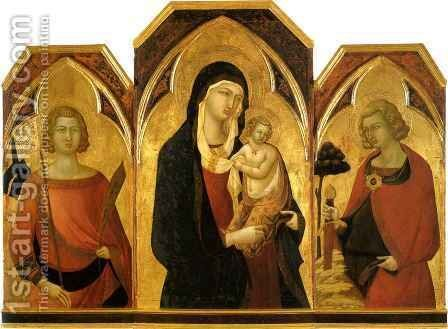 Madonna and Child with Saints by Bartolommeo Bulgarini - Reproduction Oil Painting