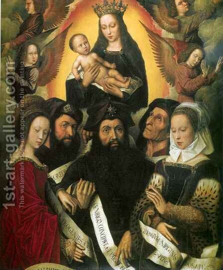 Apotheosis of Virgin Mary with Prophets and Sybille by Ambrosius Benson - Reproduction Oil Painting