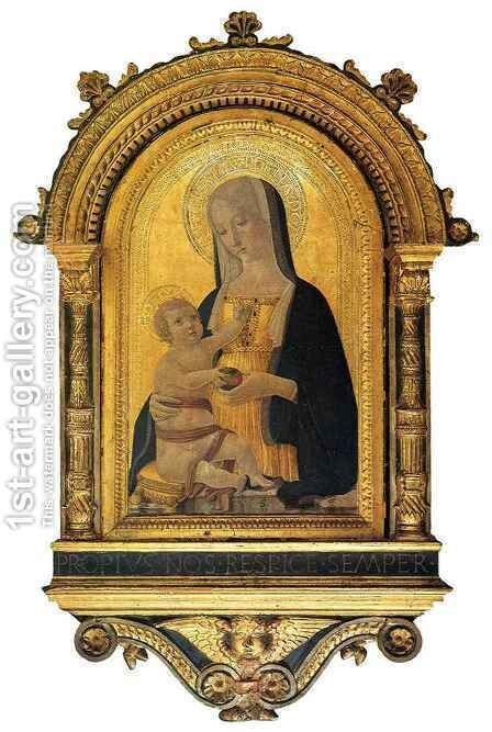 Madonna and Child by Benvenuto di Giovanni - Reproduction Oil Painting