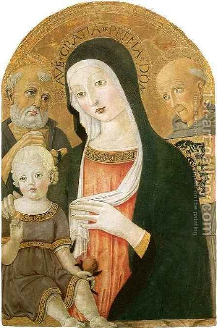 Madonna and Child with Saints by Benvenuto di Giovanni - Reproduction Oil Painting