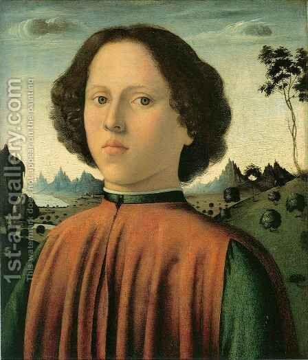 Portrait of a Boy by Biagio di Antonio Tucci - Reproduction Oil Painting