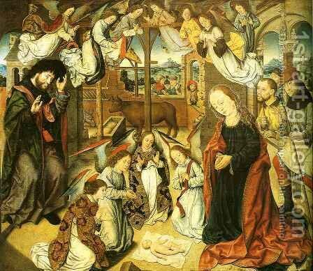 Adoration of the Shepherds by Aelbrecht Bouts - Reproduction Oil Painting