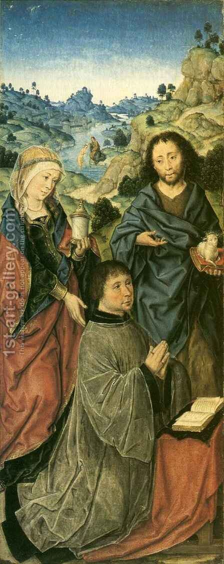 Mary Magdalene, Saint John the Baptist and a Donor by Aelbrecht Bouts - Reproduction Oil Painting