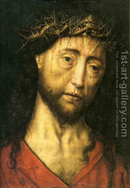 Christ Crowned with Thorns by Aelbrecht Bouts - Reproduction Oil Painting