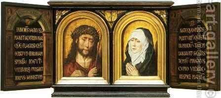 Christ Crowned with Thorns and Mater Dolorosa by Aelbrecht Bouts - Reproduction Oil Painting