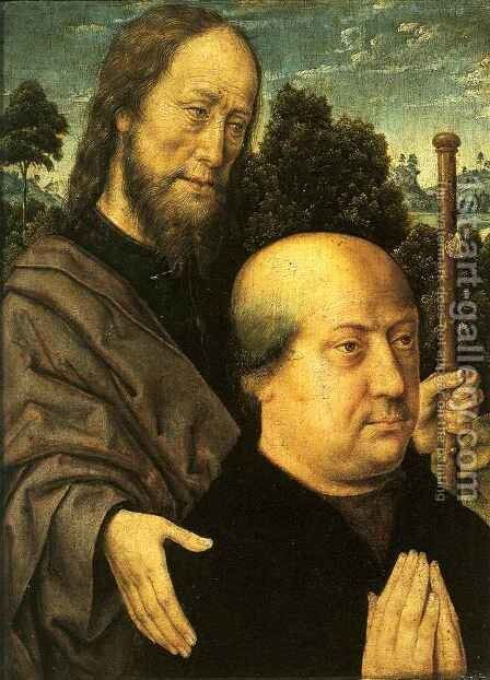 Donor with Saint Jacob by Aelbrecht Bouts - Reproduction Oil Painting