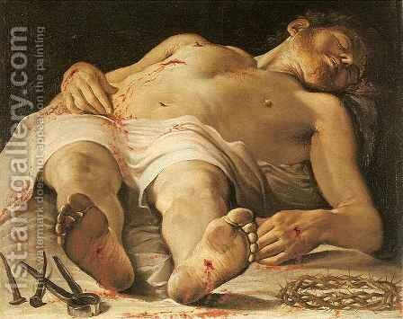 Dead Christ by Annibale Carracci - Reproduction Oil Painting