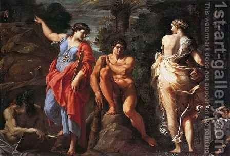 Hercules at the Crossroads 3 by Annibale Carracci - Reproduction Oil Painting