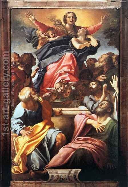 Assumption of the Virgin by Annibale Carracci - Reproduction Oil Painting