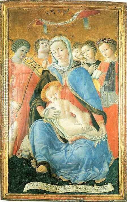 Madonna of Humility by Dietisalvi di Speme - Reproduction Oil Painting