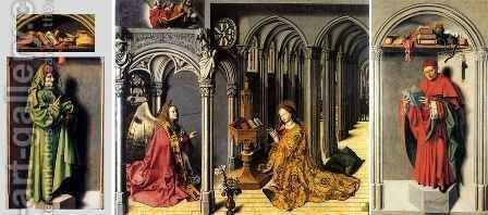 Annunciation Triptych by Barthelemy d' Eyck - Reproduction Oil Painting