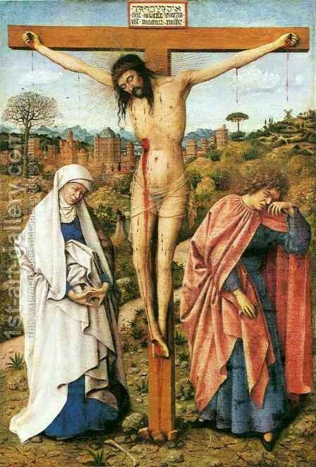 Crucifixion by Hubert van Eyck - Reproduction Oil Painting