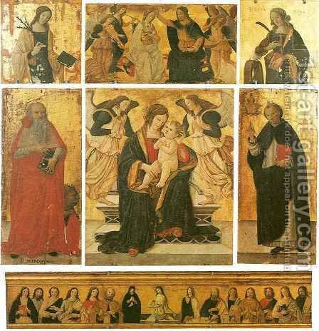 Madonna and Child with Angels and Saints by Cristoforo Faffeo - Reproduction Oil Painting