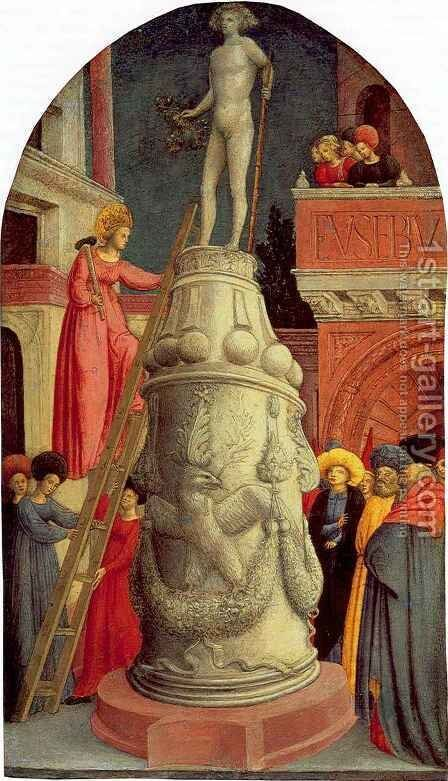 Saint Apollonia Destroys a Pagan Idol by Giovanni D'alemagna - Reproduction Oil Painting