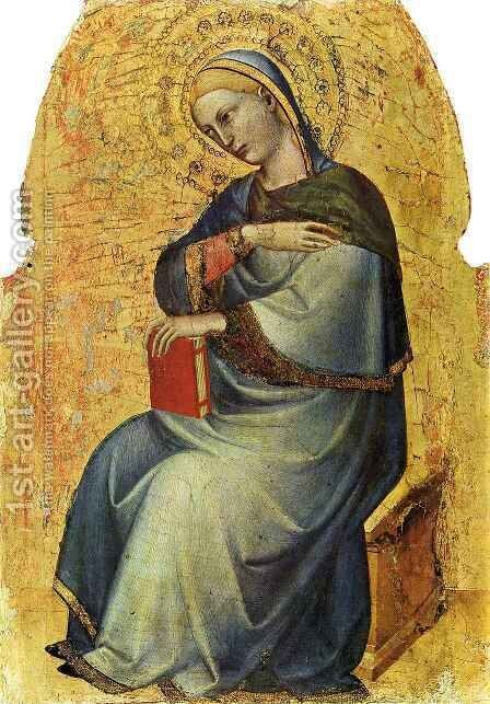 Virgin of the Annunciation by Giovanni Da Milano - Reproduction Oil Painting