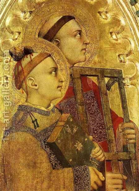 Saint Stephen and Saint Laurence by Giovanni Da Milano - Reproduction Oil Painting