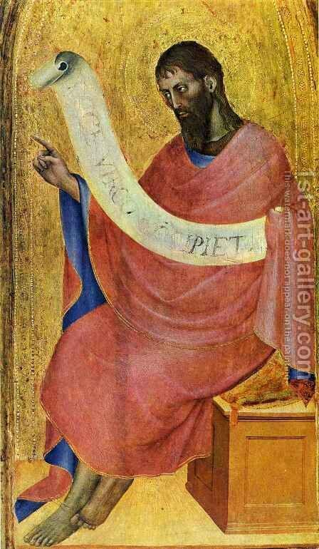 Saint John the Baptist by Giovanni Da Milano - Reproduction Oil Painting