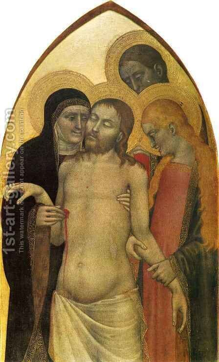 Pieta by Giovanni Da Milano - Reproduction Oil Painting