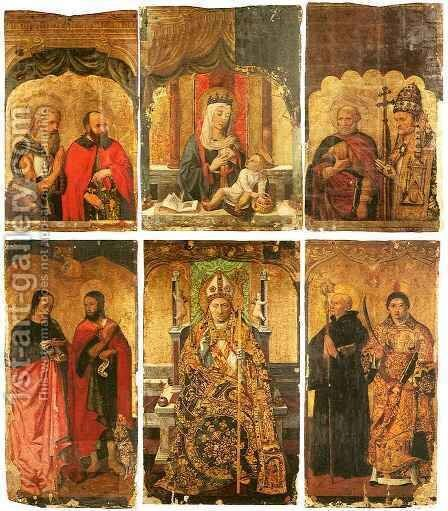 Polyptych of San Severino by Giovanni di Giusto - Reproduction Oil Painting