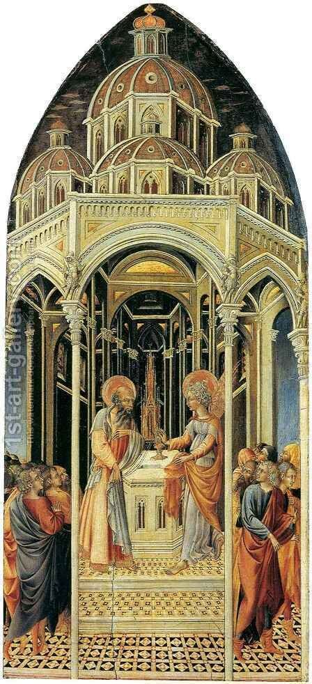 Annunciation to Zachariah by Giovanni di Paolo - Reproduction Oil Painting