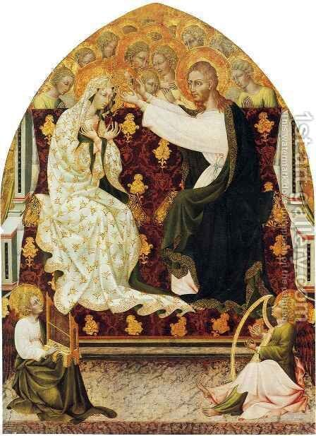 Coronation of the Virgin by Giovanni di Paolo - Reproduction Oil Painting