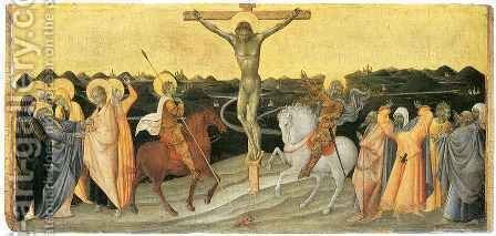 Crucifixion 2 by Giovanni di Paolo - Reproduction Oil Painting