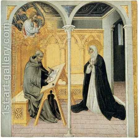 Saint Catherine before a Pope by Giovanni di Paolo - Reproduction Oil Painting