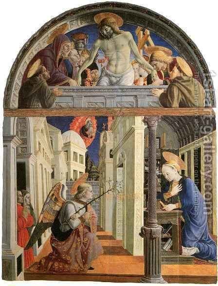 Annunciation by Girolamo Giovanni - Reproduction Oil Painting