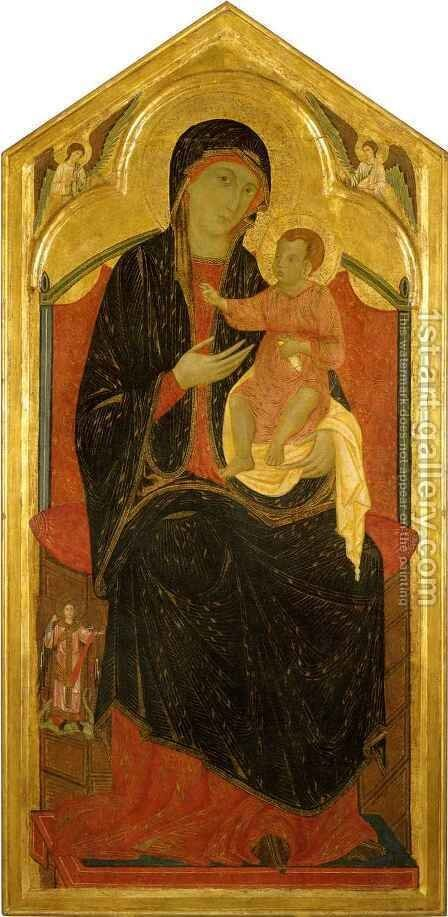 Madonna and Child Enthroned by Graziano Guido di - Reproduction Oil Painting