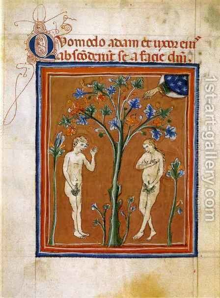 Adam and Eve with the Tree of Life by Graziano Guido di - Reproduction Oil Painting