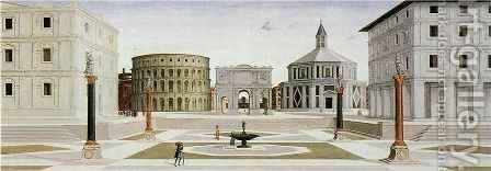 Ideal City by (attr. to) Laurana, Luciano - Reproduction Oil Painting