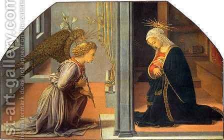 Annunciation 2 by Fra Filippo Lippi - Reproduction Oil Painting