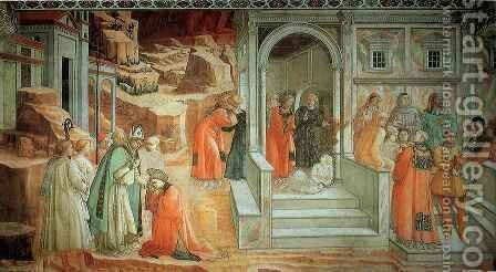 Stories from the Life of St Stephen Mission of St Stephen by Fra Filippo Lippi - Reproduction Oil Painting