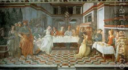 Feast of Herod by Fra Filippo Lippi - Reproduction Oil Painting