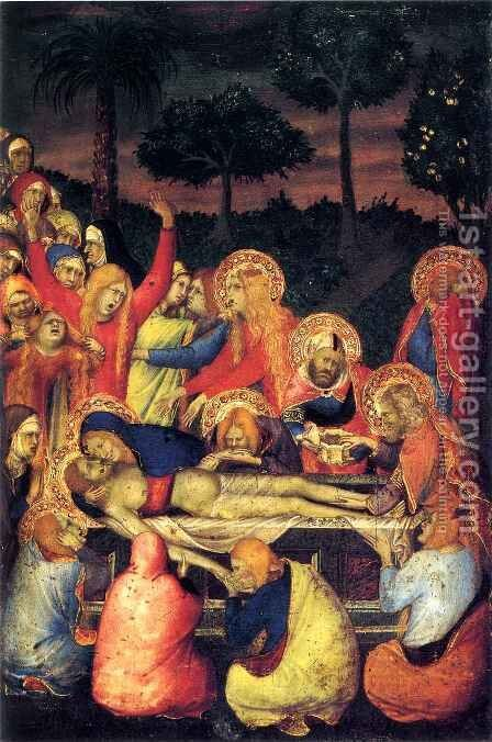 Entombment of Christ by Simone Martini and Lippo Memmi - Reproduction Oil Painting