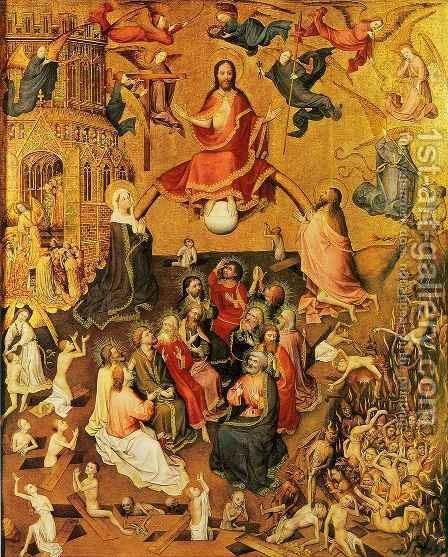 Last Judgment 2 by Stefan Lochner - Reproduction Oil Painting