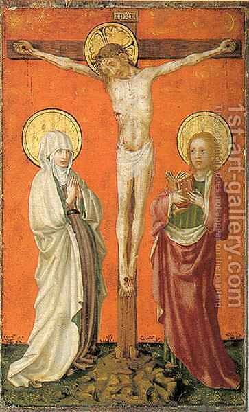 Diptych Crucifixion by Stefan Lochner - Reproduction Oil Painting
