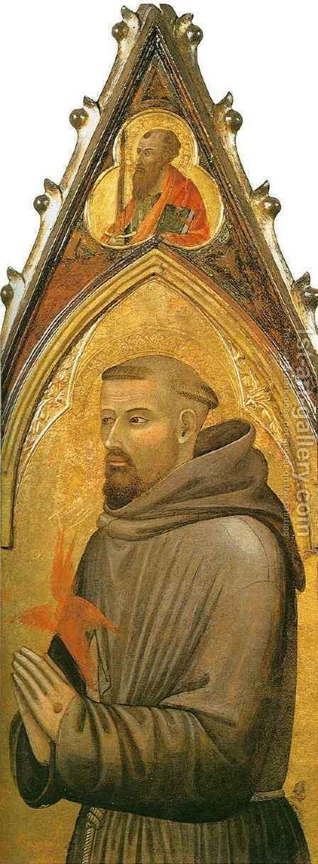 Saint Francis by Ambrogio Lorenzetti - Reproduction Oil Painting