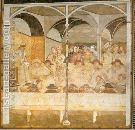 Saint Louis taking Leave of Boniface VIII by Ambrogio Lorenzetti - Reproduction Oil Painting