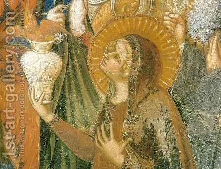 Maesta, Mary Magdalene by Ambrogio Lorenzetti - Reproduction Oil Painting