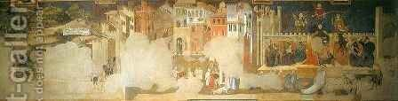 Allegory of Bad Government by Ambrogio Lorenzetti - Reproduction Oil Painting