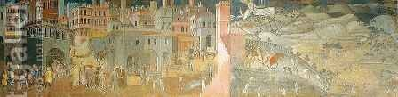 Effects of Good Government 2 by Ambrogio Lorenzetti - Reproduction Oil Painting