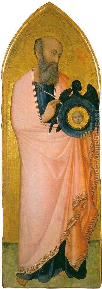 Saint John the Evangelist by Ambrogio Lorenzetti - Reproduction Oil Painting