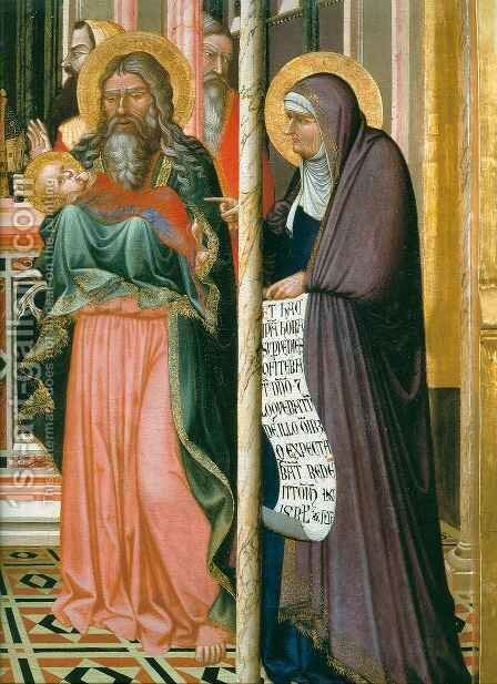 Presentation in the Temple, detail by Ambrogio Lorenzetti - Reproduction Oil Painting