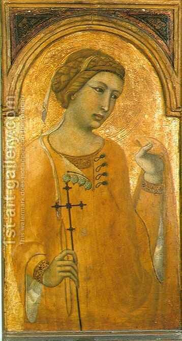 Female Saint by Pietro Lorenzetti - Reproduction Oil Painting