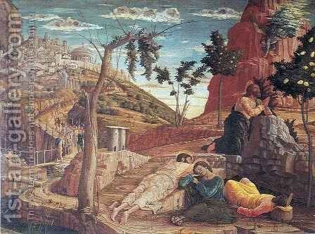 San Zeno Altarpiece Agony in the Garden by Andrea Mantegna - Reproduction Oil Painting