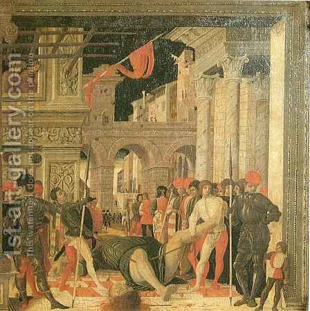 Removal of Body of Saint Cristopher by Andrea Mantegna - Reproduction Oil Painting
