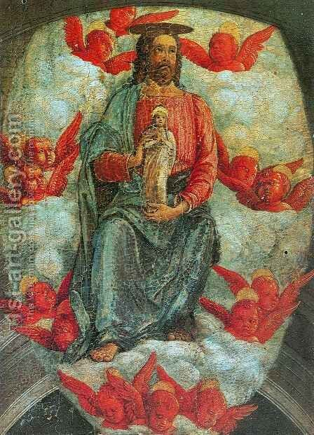 Christ with the Virgin Soul by Andrea Mantegna - Reproduction Oil Painting