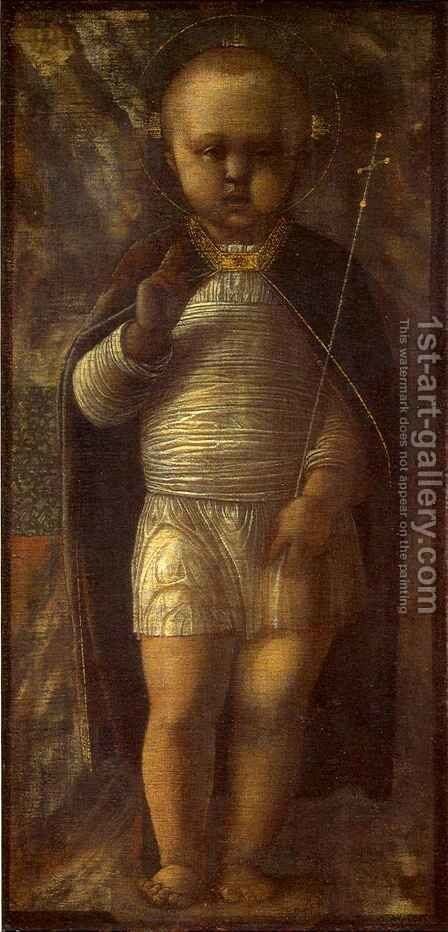 Infant Savior by Andrea Mantegna - Reproduction Oil Painting